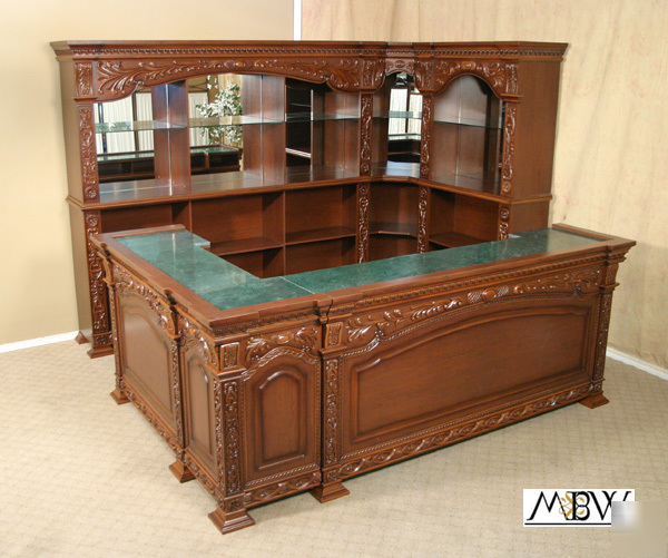 10 39 Mahogany Marble Top Corner Pub Home Wine Bar