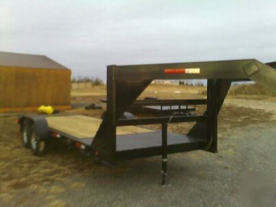 12K 18 4 tilt car hauler gooseneck equipment trailer