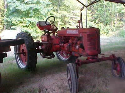 1951 farmall c tractor with factory wide front end