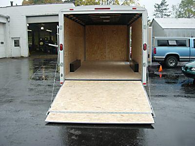 2007 18 Ft Enclosed Atlas Spec Car Hauler Trailer