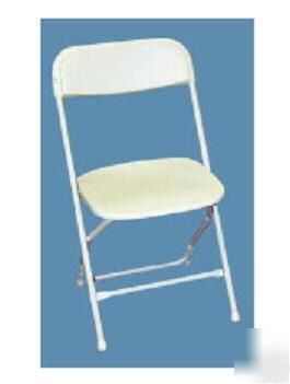Buy hercules series premium plastic folding chair white set of 4 at