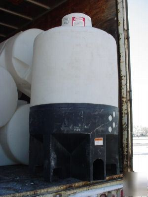 7500 gallon cone bottom tank and steel stand
