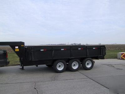 8 X 16 Gooseneck Or 5th Wheel 21k Dump Drop Sides
