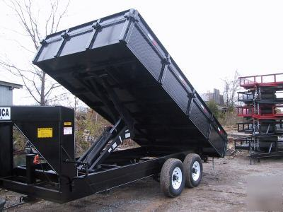 8 X 16 Gooseneck Or 5th Wheel Dump Trailer Drop Sides