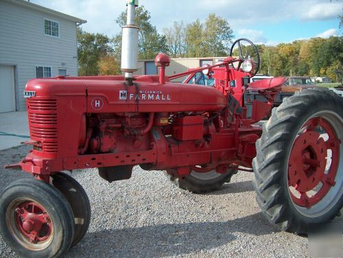 Farmall H Battery : Antique farmall h tractor