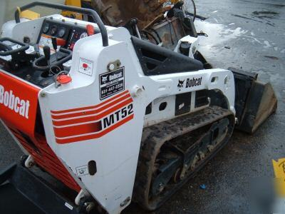 Bobcat Mt52 Mini Skid Loader Rubber Track Machine