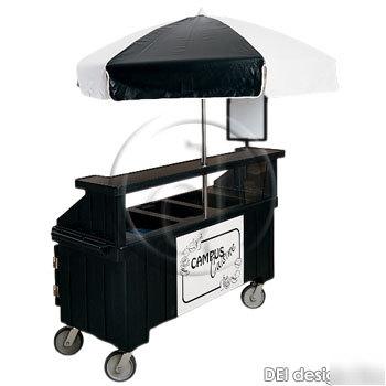 cambro vending cart with umbrella 4 pans 6ft cvc724. Black Bedroom Furniture Sets. Home Design Ideas