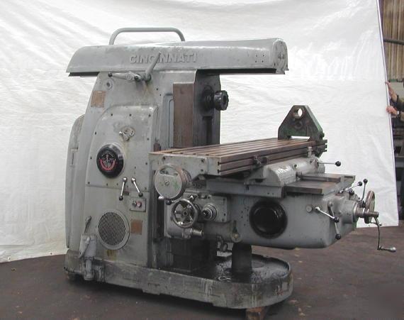 Cincinnati Horizontal Milling Machine Model No 4 Dual