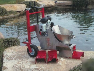 concrete landscape edging border curb machine and tools