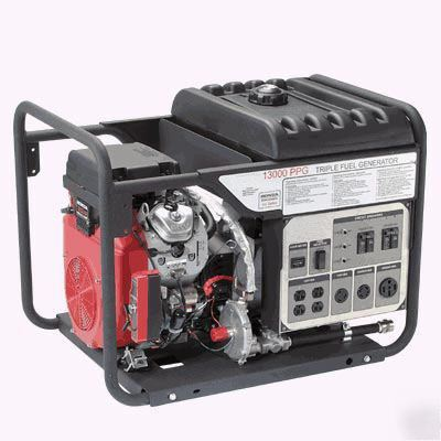 Generator tri fuel 13,000 watt - 20 hp honda - e-start