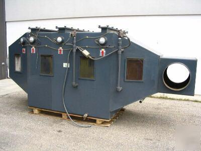 Horizontal scrub air vent system fume scrubber (FS1035)