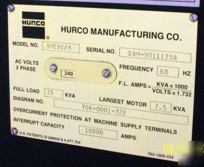 Hurco BMC30 cnc vertical machining center ultimax 3