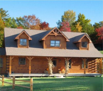 Log Home Package With 4 Bedrooms And Porch