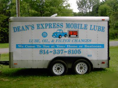 Mobile Oil Change And Lube Business Trailer For Sale