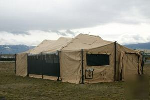 All tents in new condition and availible in custom sizes and fabrics. & Modular general purpose tent system (mgpts medium)