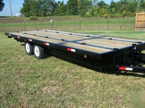 new 6 place deckover atv quadrunner snowmobile trailer