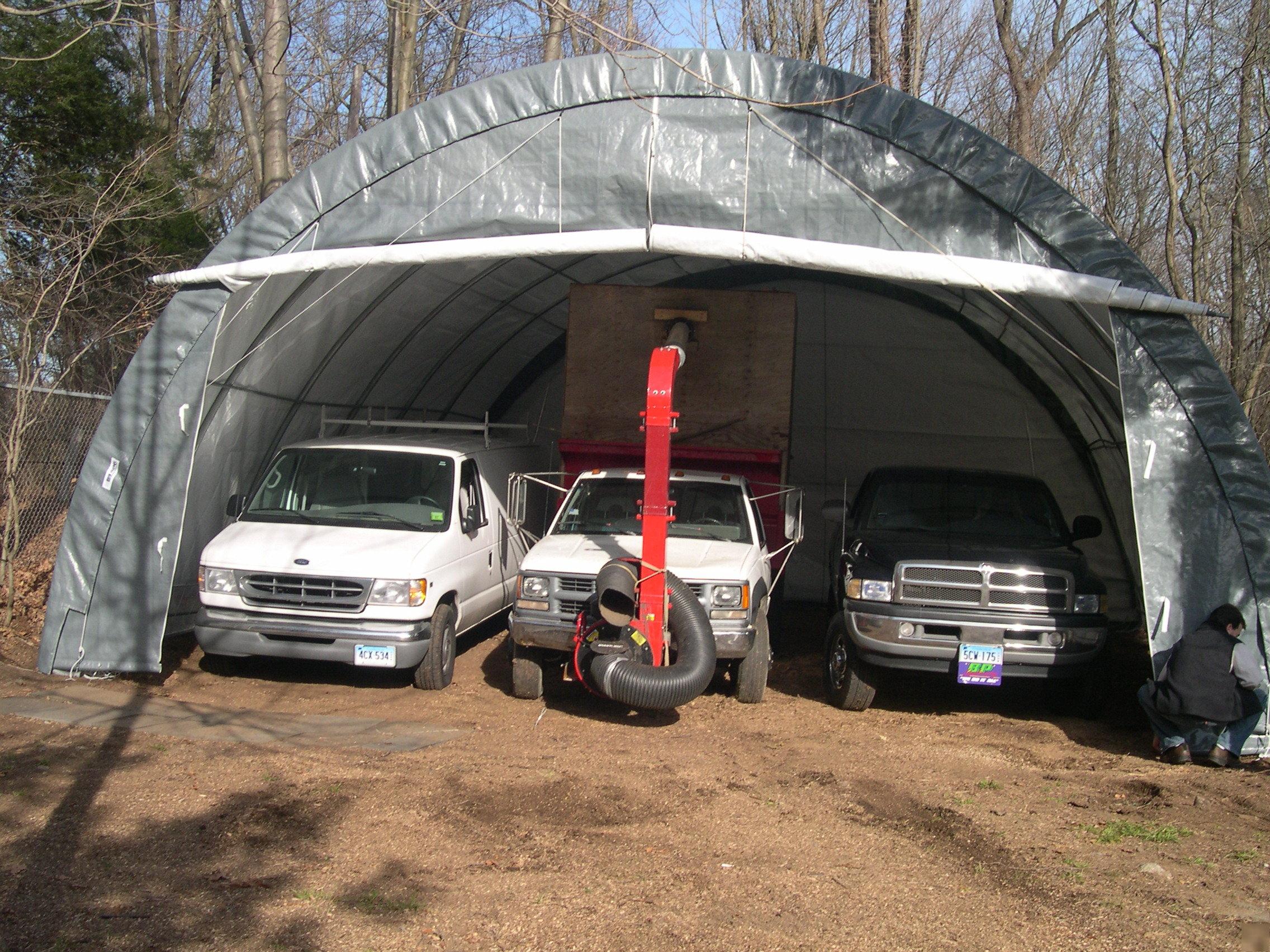 18 By 30 Instant Garage : Portable instant garage shelter carport x