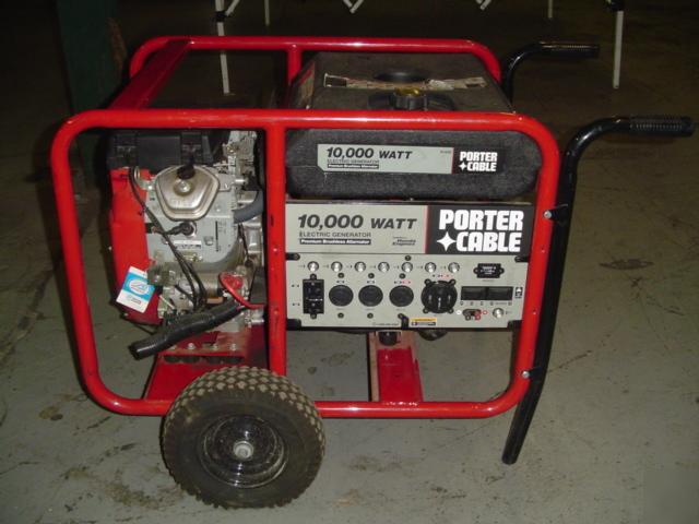 Porter Cable 10 000 Watt Generator H1000 Honda Engine