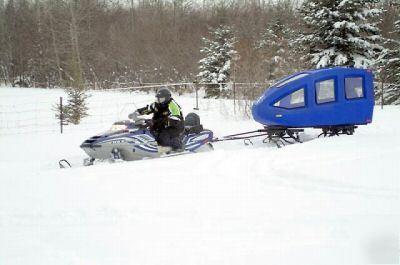 Remote rescue ambulance all terrain snowmobile or atv