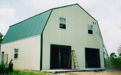 Steel Metal 2 Story Building Home Gambrel Roof
