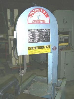 14 Quot Roll In Vertical Bandsaw No Ef 1459 20251