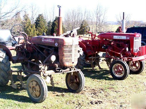 Farmall 130 Tractor : Farmall tractor with cultivators field ready