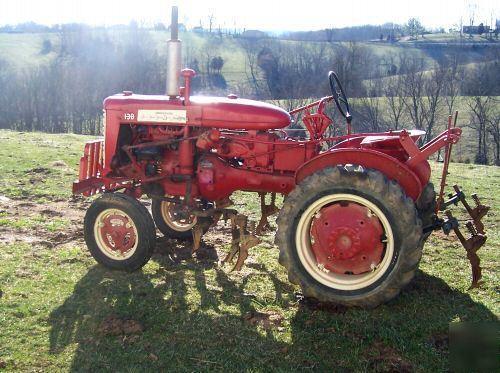 1958 Farmall 130 Tractor With Cultivators  Field Ready