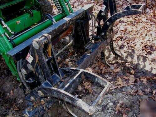 2003 john deere 4710 w grapple  logging winch  trailer