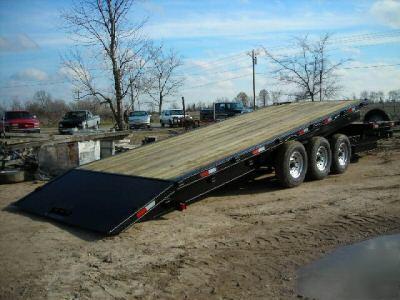 2007 Deck Over Tilt Equipment Trailer 24 000 Gvwr