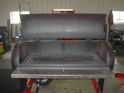 Bbq Pit Cooker Grill Trailer With Propane Burner