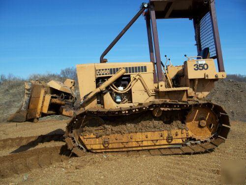 Case 350 wide pad dozer, crawler, bulldozer,6-way blade