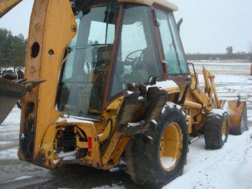 Case 580-k 4WD tractor loader backhoe, extendahoe cab
