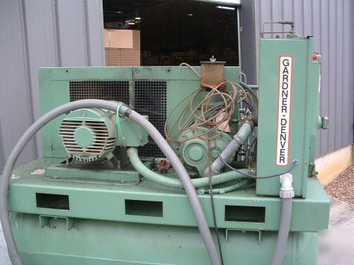 Gardner Denver Electra Screw Air Compressor 30 Hp 1989