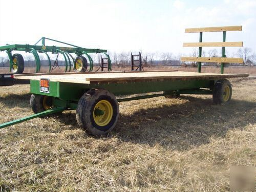 John deere 953 hay wagon farm flat flatbed trailer