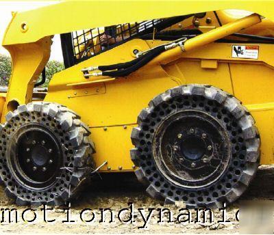 ERW - o pneu sem ar! Mclaren-solid-rubber-bobcat-skid-steer-flat-proof-tires-1
