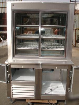New Refrigerated Pie Dessert Display Case Leader Pc48