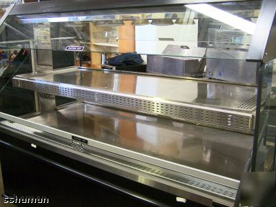 Rotisserie Chicken Hot Food 2 Shelf Display Warmer Mobl