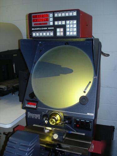 Starrett 16 optical comparator he400 quadra chek dro for Table titanium quadra 6
